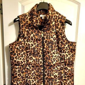 Cheetah Puffy Vest